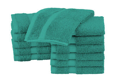 """EOM Towels Basic Washcloths/Face Cloths 100% Cotton 12"""" X 12"""" 24 Pack"""