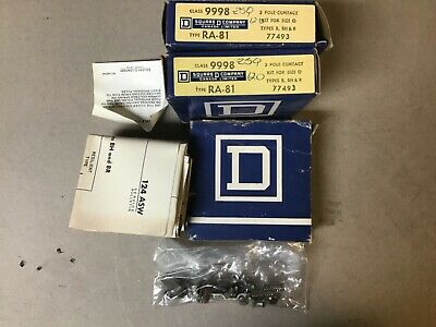 Square D 9998 RA-81 Size 0 Contact Kit 3 Pole-NIB