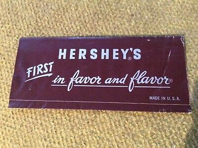 Vintage HERSHEY'S Milk Chocolate Candy Bar ORIGINAL WRAPPER
