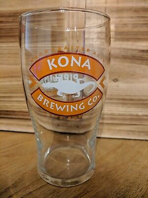 Preowned beer glass from Kona Brewing Co. Clear glass, Pipeline Porter