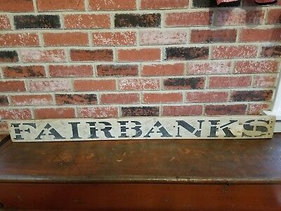 Outstanding Vintage Fairbanks Scales Wooden Sign
