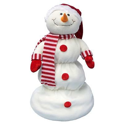 "ReLive 22"" Animated Up Down Musical Motion Snowman (Santa Hat Snowman)"