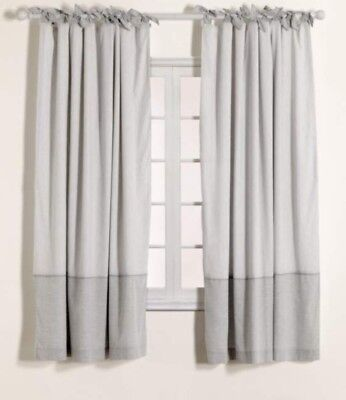 Mamas and Papas Welcome to the World Grey Curtains Used But In Good Condition