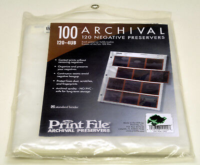 PRINT FILE archival 120 negative preservers cat# 120-4UB 90 pages in opened pack