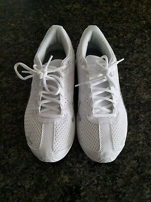 05a5c3bf496 PUMA SOLEIL V2 Athletic Shoes White Blue Leather Lace Up Womens Size ...