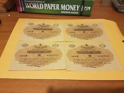 4 Turkey notes consecutive notes just light handling only otherwise UNC