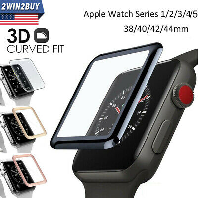 Full Cover Tempered Glass Curved Screen Protector For Apple Watch Series 2/3/4/5