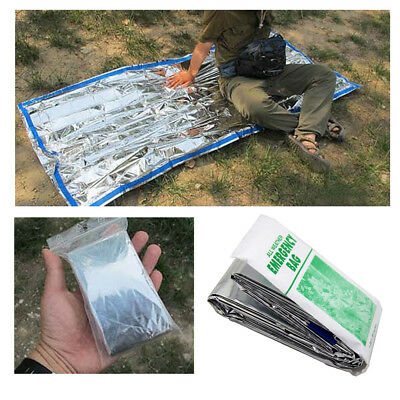 Outdoor Emergency Survival Sleeping Bag Camping Kit Rescue Thermal Space Blanket