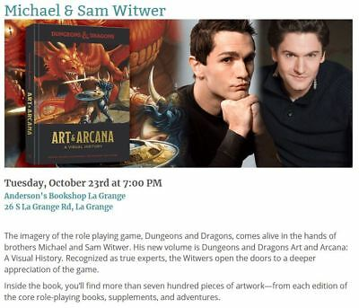Dungeons & Dragons: Art & Arcana Hardcover Signed by Sam Witwer & Michael Witwer