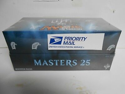 """2 X Magic the Gathering Masters 25 - MTG Factory Sealed Booster Box """"Ship Now"""""""
