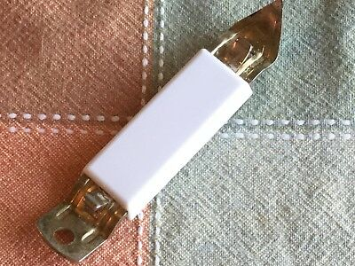 Vintage Bottle Can Opener w/White Plastic Handle & Metal, Magnet Back Unbranded