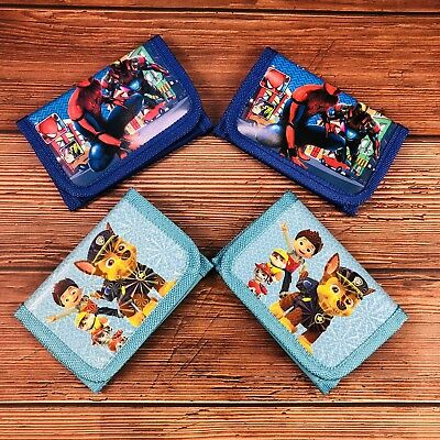 4pc KIDS  WALLET/ PURSE Spider-Man PAW PATROL BOY PARTY Birthday Christmas Gift
