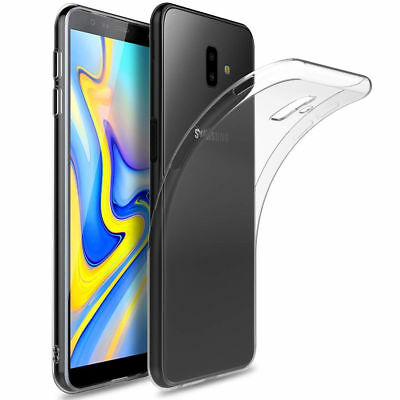 For Samsung Galaxy J4 J6 Plus 2018 Ultra Thin Clear Soft Silicone Gel Cover Case