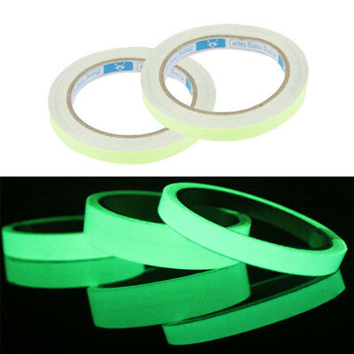 3FT Glow In The Dark Sticky Tape Self Adhesive Luminous Saftey Film Sticker Roll