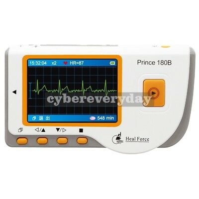 HEAL FORCE PRINCE 180B Handheld ECG EKG Portable Heart Monitor Software USB LCD