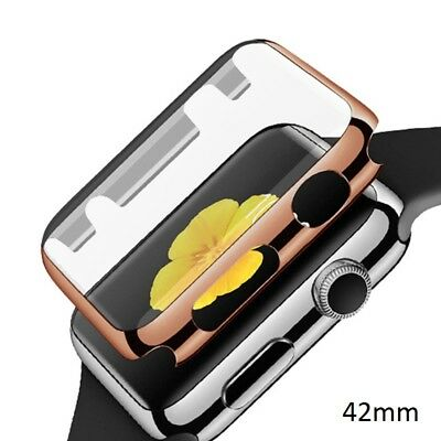 Ultra-thin Plated Plating Protective Case For iWatch Series 1 42mm Rose Gold