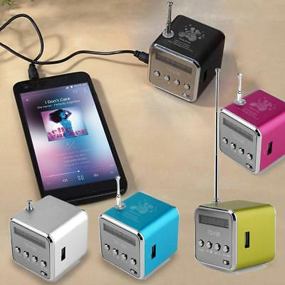 Portable Micro USB Stereo Mini Speaker Music Player FM Radio PC MP3 / 4 Notebook