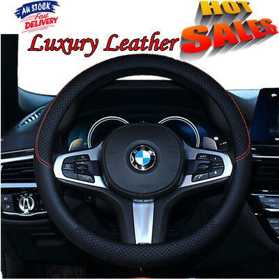 Classic Luxury Auto Car Steering Wheel Cover PU Leather Universal Car Cover 38cm