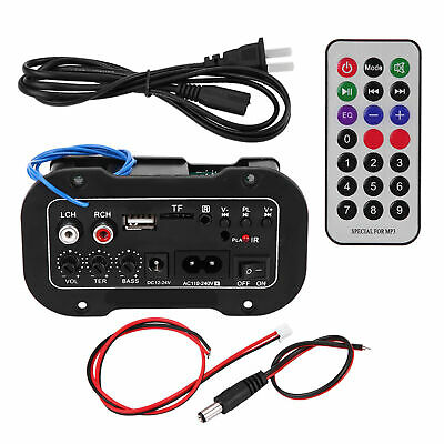 Car 5 Inch Bluetooth Hifi Bass Power AMP Stereo Digital Amplifier With Remote