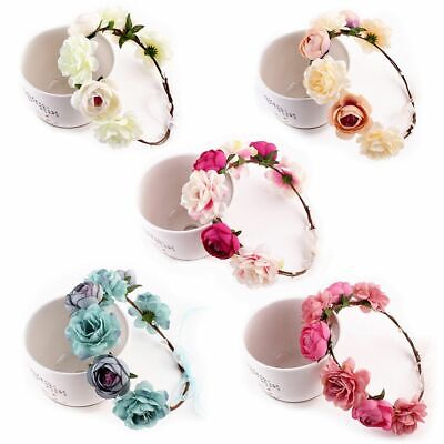 Women Wedding Flower Hair Garland Crown Headband Floral Wreath Hairband Beach YU