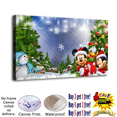 Miki Christmas HD Canvas prints Painting Home Decor Picture Room Wall art Poster