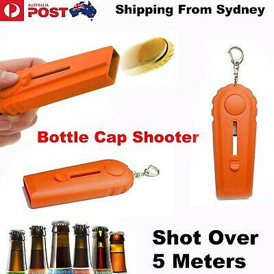 Flying Zappa Beer Drink Bottle Opener Cap Launcher Top Shooter Gun Key Ring Gift