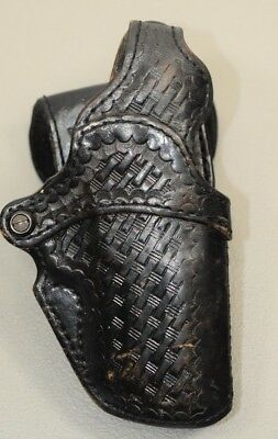Aker Basketweave Police Duty Holster S&W 4006, TSW, Thumb Break - Duty Used