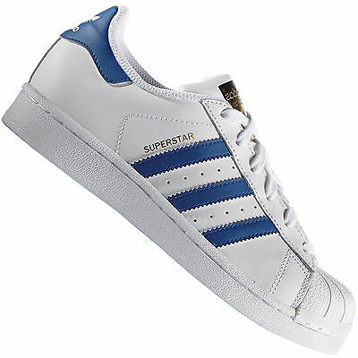 watch 3b0a0 f480a Adidas Originals Superstar Fondotinta Bianco Blu S74944 Sneaker Donna Scarpe