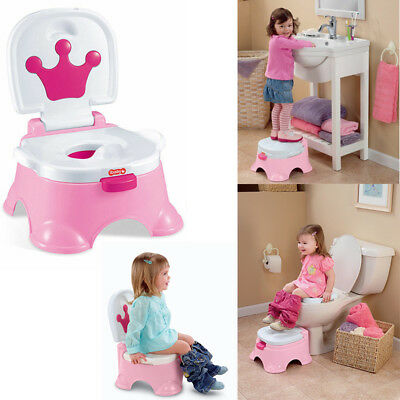 3 in 1 Baby Toilet Trainer Kid Music Potty Toddler Training Safety Seat Chair UK