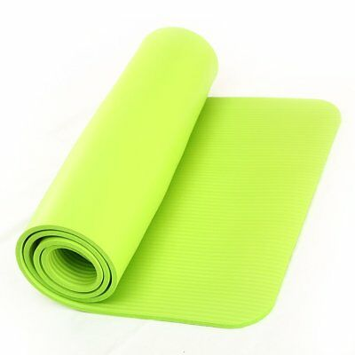 15mm Thick Green Large Non-slip Yoga Mat GYM Pilates Fitness Physio Exercise Pad