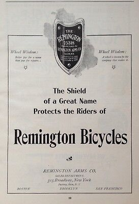 1897 Ad(1800-35)~Remington Arms Co. Ilion, Ny. Remington Bicycles