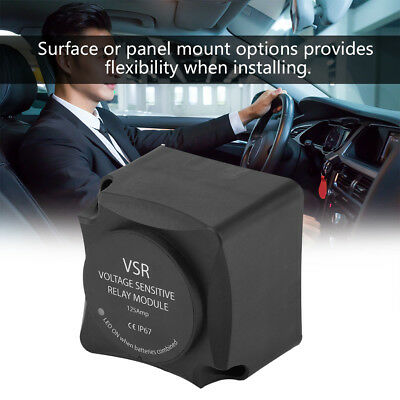 Voltage Sensitive Relay Auto Charging VSR 12V 125A Dual Battery Isolator CE UK