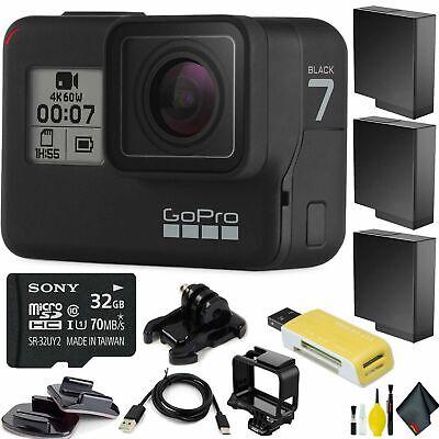 GoPro HERO7 Black HD Waterproof Action Camera Deluxe Bundle