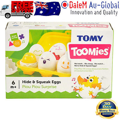 Tomy Hide N Squeak Eggs Learning Activity Game Toy for Baby Infant Toddler Child
