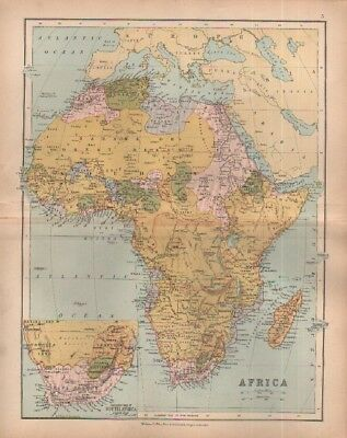 c1880 map of Africa by William Collins