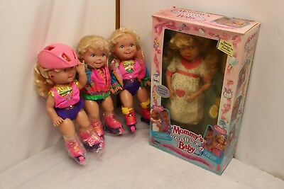 Lot of 4 Vintage TYCO Mommy Having A Baby TYCO  California Roller Blade