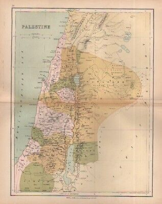 c1880 map of Palestine by William Collins