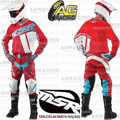 """MSR Axxis Red Teal White XL Jersey 36"""" Pants Combo Kit Motocross Enduro Quad"""