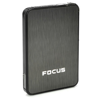Focus Ultra-thin Wiredrawing Cigarette Case Dispenser With Butane Lighter