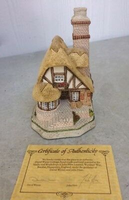 David Winter Cottages Audrey's Tea Room 1991- Box & CoA