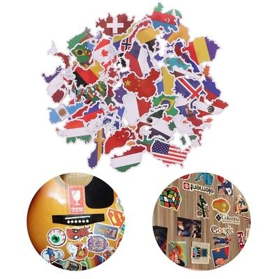 50X National Flags Stickers Toys Countries Map Sticker DIY Scrapbooking Suitcase