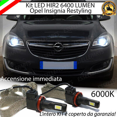 Kit Full Led Hir2 Hir Opel Insignia Restyling Lampade Led 6000K No Avaria Luci