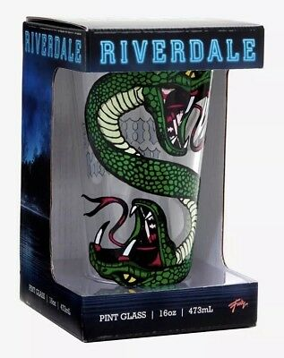 Riverdale Serpents Whyte Wyrm 16oz. Clear Pint Glass New In Box!