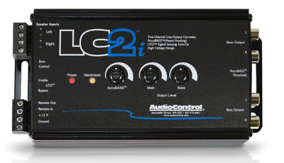 AudioControl LC2i 2 channel car audio speaker to RCA Line output convertor