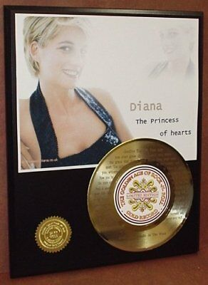 Elton John Tribute To Princess Diana 24Kt Gold 45 Record LTD Edition Display ...