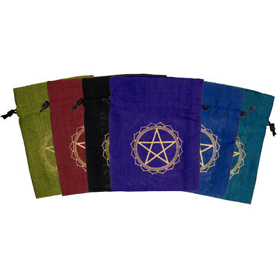 Coin Purse, Pentagram, Witchcraft, Wicca, Many Colors, 5x4.5in, Celtic, #Sale