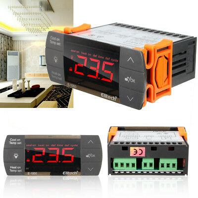 220V Touch Digital LCD Temperature Controller Cooling Heating Switch Thermostat
