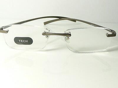 New Mens  Womens Unisex FOSTER GRANT Metal Rimless  'Le Carre' Reading Glasses