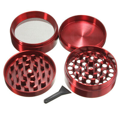 4 Piece 2 Inch Hand Herb Metal Grinder Herbal Spice Smoke Crusher Zinc Alloy US