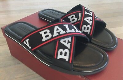 aaeeca164e6a 500  BALLY VENZIO Black Leather Sandals size US 13 Made in Italy ...